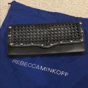 Rebecca Minkoff Black Leather Clutch